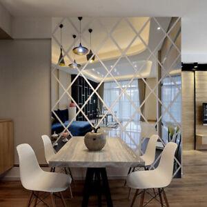 Diamant-3D-Acryl-Spiegel-Wandaufkleber-DIY-Art-Abziehbilder-For-Zuhause-Dekor
