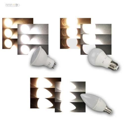LED Leuchtmittel GU10 E27 E14, 3-Stufen-Dimm dimmbar mit normalem Lichtschalter