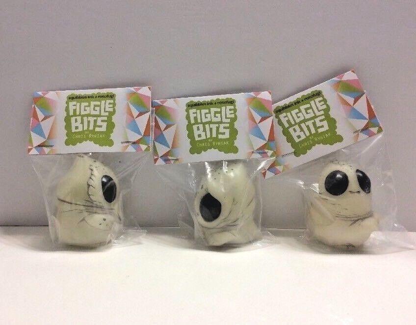 2017 SDCC Rotofugi Chris Ryniak Figgle Bits Glow Fibbly Plopp Gubble Figure Set