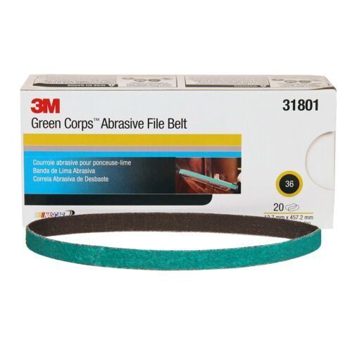 3M 31801 Abrasive File Belt 36 Grit For 3M  Belt Sander 1//2 in x 18 in