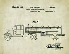 Semi Truck Patent Poster Art Print  Peterbilt Mack Toys Parts Vintage  PAT302