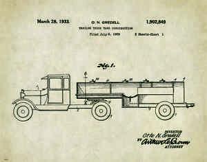 Details about Semi Truck Patent Poster Art Print Peterbilt Mack Toys Parts  Vintage PAT302