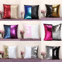 Us Sell Mermaid Sequins Pillow Cover Throw Case Magical Color Change Pillow Case