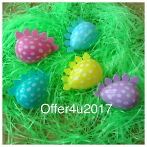 Image Is Loading Dragon Dinosaur Plastic Shaped Fillable Easter Egg Containers