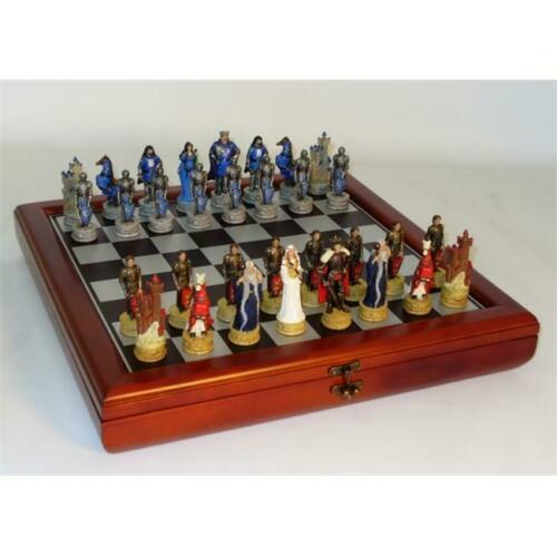Royal Chess R75138-CCT King Arthur Chest Set Chess Sets Resin