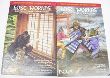 2 NOVA Lost Worlds Combat Book Game Ninja with Ninjato & Samurai with Katana