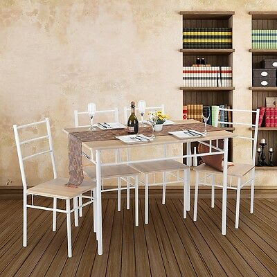 Dining Table and Chairs Living Room Kitchen Furniture Home Space Saving New
