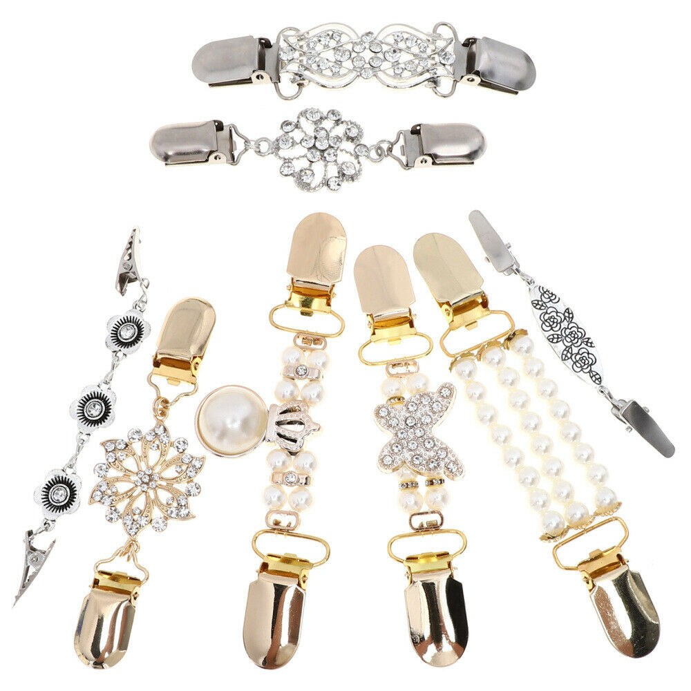8pcs Chic Stylish Vintage Sweater Clip Clothing Accessories