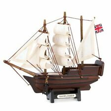 NAUTICAL DECOR MAYFLOWER SHIP MODEL DECORATIVE COLLECTIBLE FIGURINE CRAFTED NEW