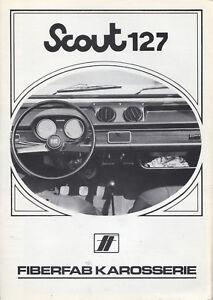 Scout-127-Fiat-Kit-Car-Fiberfab-brochure-prospekt-folder-German-Rare-Selten