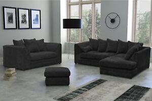 New Skandar Fabric Jumbo Cord Black