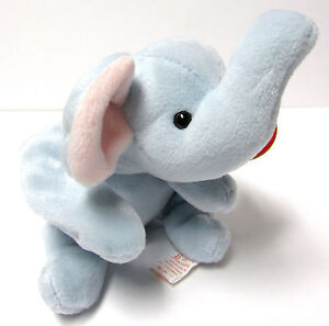 Image is loading Ty-Beanie-Baby-Peanut-Light-Blue-Elephant-Brand- 0069455157a