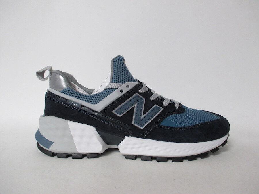 New Balance 574 Black bluee White Grey Fresh Foam Sz 9.5 MS574EDC