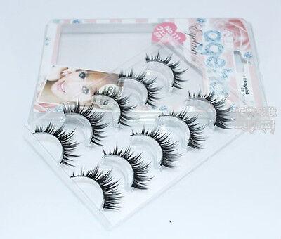 111# 10Pairs Japanese Makeup Handmade Natural Thick Eye Lashes False Eyelashes