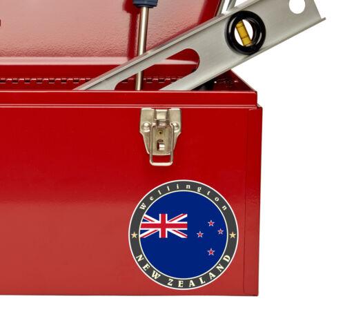 2 x 10 cm de Nueva Zelanda pegatina de vinilo Ipad Laptop Bandera equipaje de viaje la etiqueta # 5090