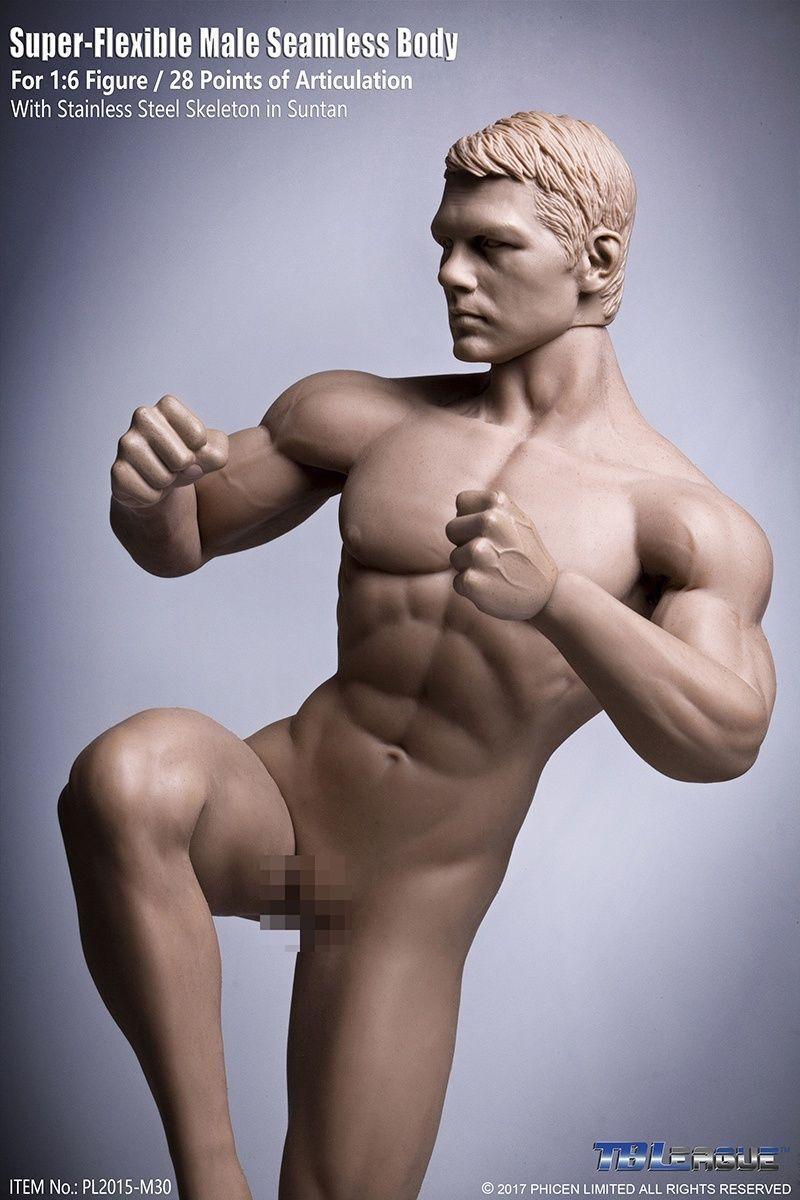 1 6 12  TBLeague PL2015-M30 PL2015-M30 PL2015-M30 Headless Steel Encased Muscle Male Body Model Figure 09f1d7