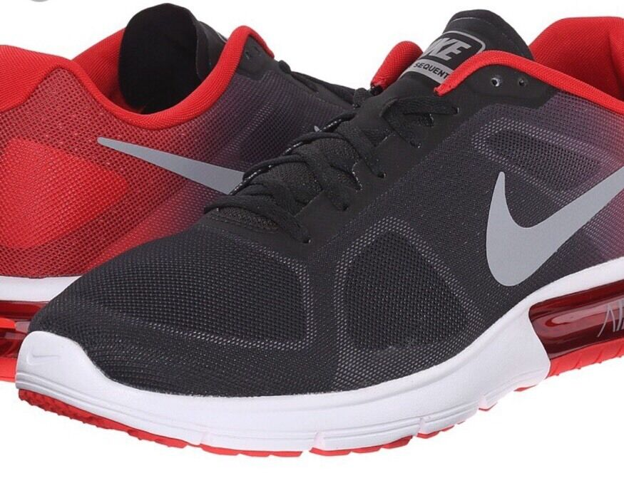 Nike Men's Air Max Sequent Red/Black 6.5Y c11/1 The latest discount shoes for men and women