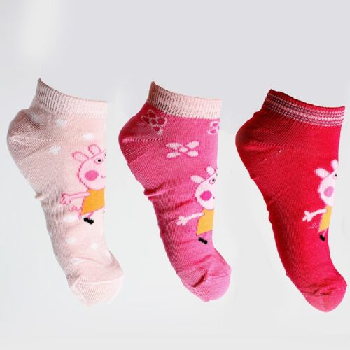 Peppa Pig George Girls Boys Toddlers Ankle 3x Socks Age 2 3 4 6 7 8 9 Free P/&P