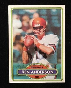 KEN-ANDERSON-1980-TOPPS-AUTOGRAPHED-SIGNED-AUTO-FOOTBALL-CARD-388-BENGALS