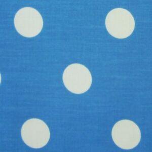 Per Metre White Polycotton Fabric with 25 mm Orange Spots