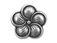 12 Neroli Flower 3/4 Inch ( 19 Mm ) Metal Shank Buttons