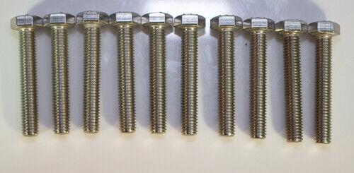 M4 X .07 X 30mm Stainless steel hex head metric 10pcs