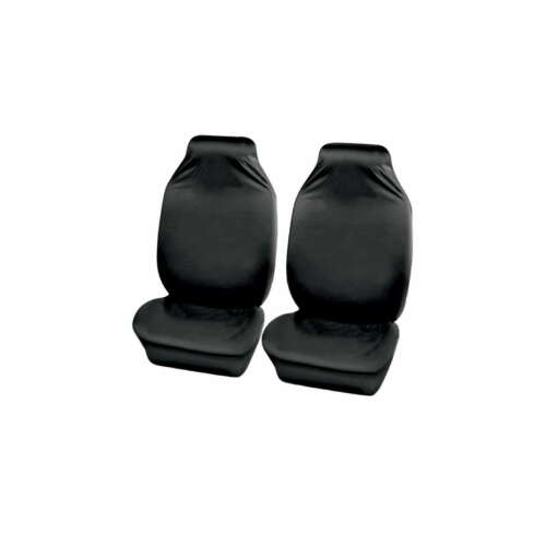 2X Universal Delantero Cojines de cubiertas de asiento de Coche Protector Negro HD Lavable