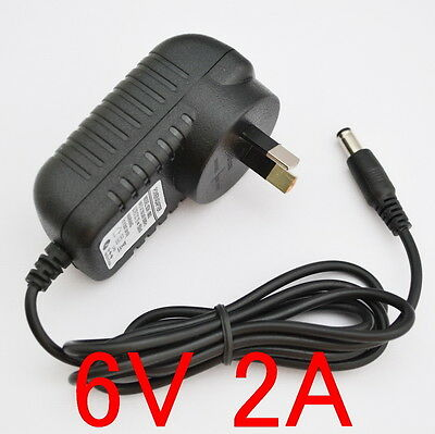 New AC 100V-240V Converter Adapter DC 6V 2A 12W Power Supply AU 5.5mm 2000mA