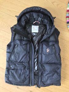 Moncler-Grenoble-Weste-Mod-Vadret-Gr-M-3-Winter-Ski-Jacke-schwarz-blau