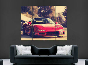 Image Is Loading HONDA NSX ACURA RED CAR POSTER JAPAN CLASSIC