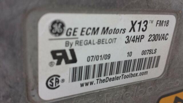 Ge Genteq ECM X13 1 HP Blower Motor 5sme39sxl559 HD46AR233 for sale online