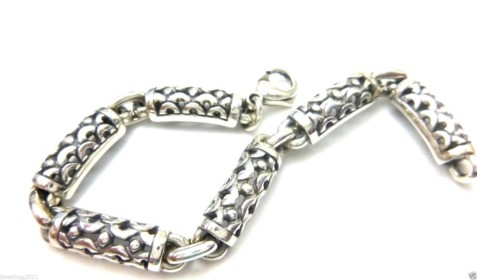 RARE James Avery Retired Scroll Link Bracelet Slender Wrist 7