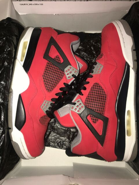 reputable site b6eb0 a6b74 Nike Air Jordan 4 Retro Toro Bravo Fire Red Size 10 US Men's Shoes Very Rare