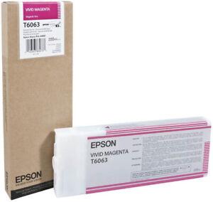 Genuine-EPSON-T6063-VIVID-MAGENTA-Cartuccia-di-inchiostro-EPSON-ULTRA-CHROME-C13T606300
