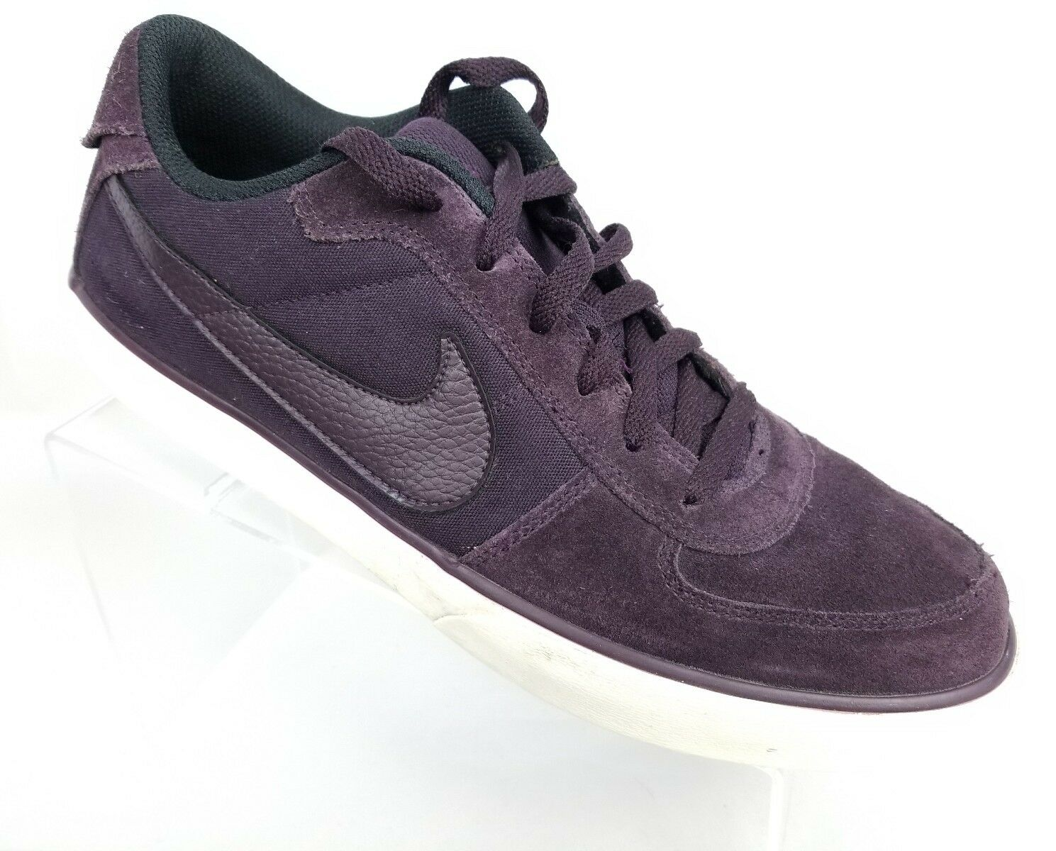 Nike Mavrk Low Mens 11.5 Purple Suede Leather Casual Skateboarding Shoes