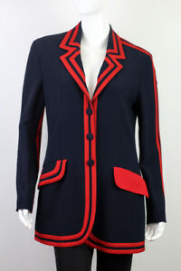 Blazer Rayon Size Long Moschino Women's Jacket It46 Cqwtx0A8
