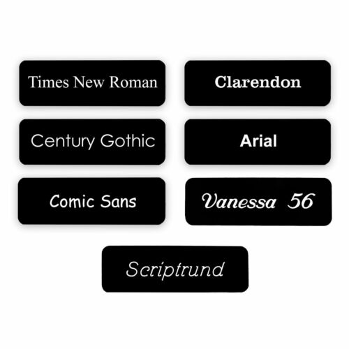 Fonts COMBI CLIP /& PIN Custom Engraved Name Badge Care Home Hospital Doctor
