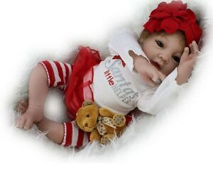 22 Lifelike Baby Doll White Girl Silicone Vinyl Newborn Reborn Dolls Clothes Ebay