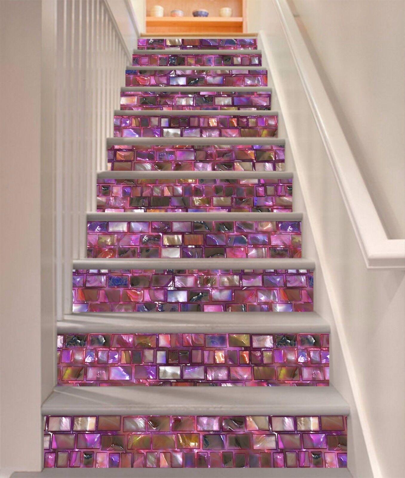 3D Farbe Marmor 782 Stair Risers Dekoration Fototapete Vinyl Aufkleber Tapete DE