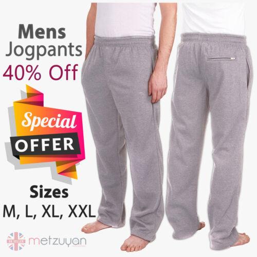 Mens Tracksuit Bottoms Fleece Joggers Jogging Outdoor Gym Sports Pants Trousers