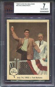 Details About Ted Williams 1959 Fleer Baseball Card 48 Ted Returns 1953 Graded Bvg 7