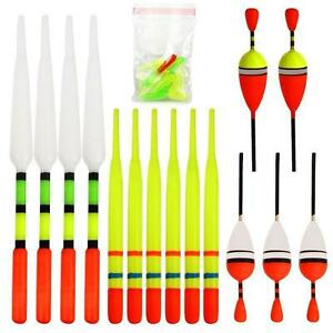 15 Pcs Assorted Fishing Float Set Terminal Tackle Great Selection for Angler