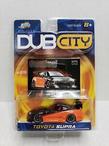 Jada-Toys-Dub-City-Import-Racer-Toyota-Supra-Orange-Black-1-64-2003