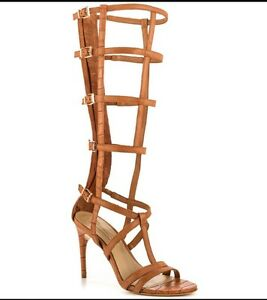 4619cab2bdfd New BCBG Maxazria Gladiator Sandals boot cage hills camel 7 shoes ...