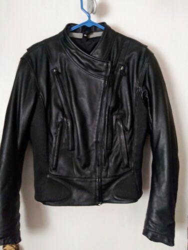 Men's Harley Davidson Black FXRG leather racing ja