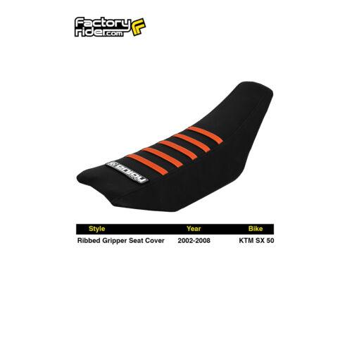 2002-2008 KTM SX 50 SEAT COVER Ribbed GRIPPER Black//Orange Ribs by Enjoy MFG