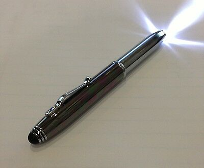 3 in 1 Function Flashlight Pen ballpoint with stylus touchscreen