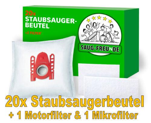 SAUG-FREUnDE 20 Staubsaugerbeutel 2 Filter geeignet für SIEMENS VS06A110