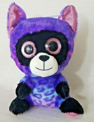 "New Scent Sations 10"" Plush Raccoon Purple Bubblegum Scented Pink Sparkle Eyes"