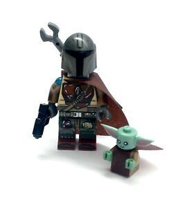 Mandalorian-amp-Baby-Yoda-Custom-Minifigure-Star-Wars-NEW-US-SELLER